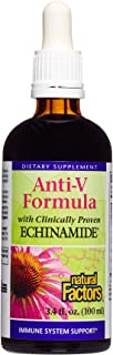 Natural Factors, Anti-V Liquid Formula, Supports Immune System Health with Echinamide, Reishi Mushroom and Astragalus, 3.4 oz (67 servings)