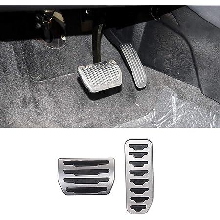 For Freelander 2 2007-2015 AT Car Pedal Brake and Accelerator Pedal Pads Cover Trim