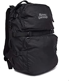 Royal Enfield Black Polyster Backpack Bag (RLUBGH000001)
