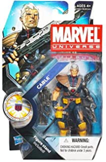 Marvel Universe 3 3/4 Inch Series 13 Action Figure #7 Cable Without Baby Hope Variant
