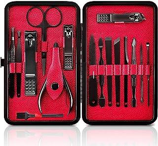 Manicura Set, Uplayteck 16 en 1 Manicura y Pedicura Kit Cuidado Personal Acero Inoxidable Nail Clippers Scissors Grooming ...