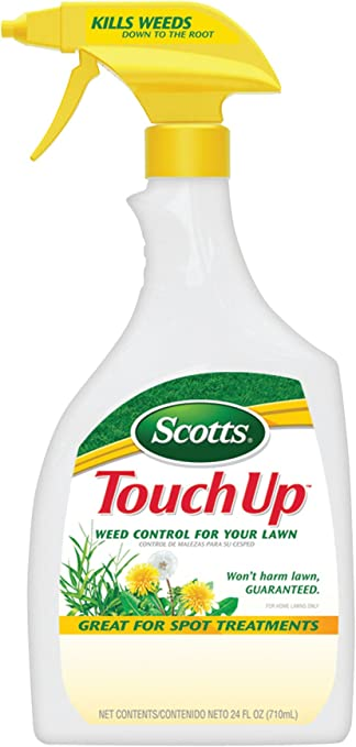 Scotts TouchUp Weed Control for Lawn (Dandelion, Clover, & Crabgrass Killer) (Not Sold in HI), 24 fl oz