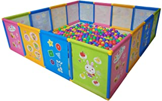 Playpen Portable Kids Safety Play Center Yard Home Indoor Fence Anti-Fall Play Pen, Playpens for Babies, Extra Large Playa...