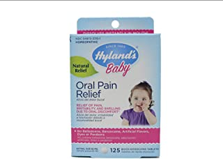 Hyland's Baby Oral Pain Relief Tablets, 125 Count Each (4)