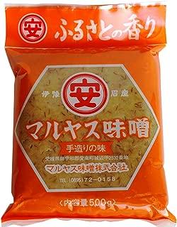 マルヤス味噌 麦味噌(白) 粗ずりタイプ 袋詰 500g