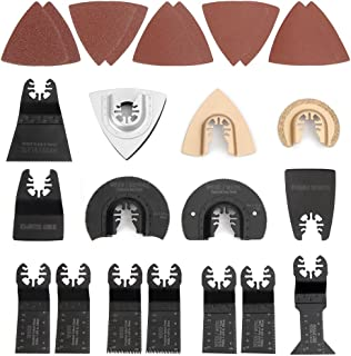 WORKPRO 25-piece Oscillating Multitool Accessories Saw Blades Quick Release Kit Packed by..