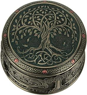 Veronese Design Bronze Color World Tree of Life Trinket Box