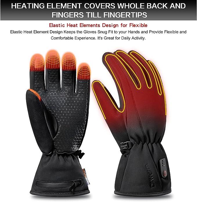 12V gloves heated pad heating element winter outdoor warm mitten ...