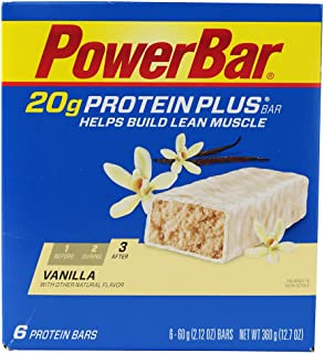 Power bar - protein plus 20g Vainilla (6 piezas)