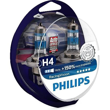 Philips Racingvision 150 H4 Scheinwerferlampe 12342rvs2 Doppelset Auto
