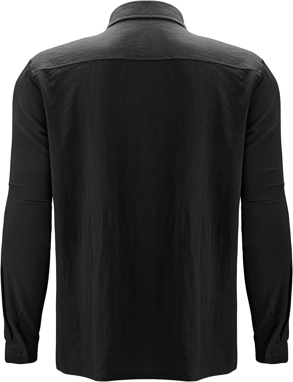 AUDATE Hemd Herren Regular Fit Button-down Shirt Herbst Winter Langarm Hemd Freizeithemd