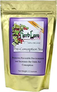 Fertility Tea for Women - 60 Cups - Loose Leaf Herb Lore Preconception Tea with Red Raspberry Leaf & Red Clover - Natural ...
