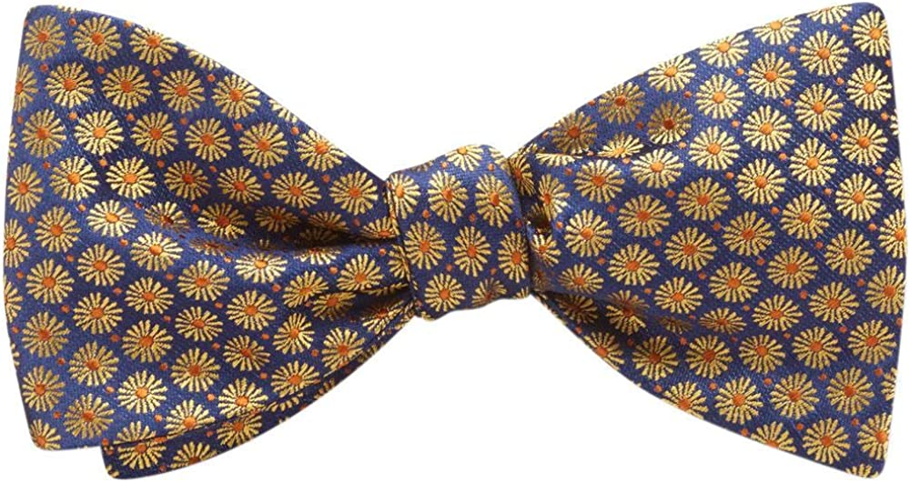 Astorienne Blue Floral, Men's Bow Tie, Handmade in the USA