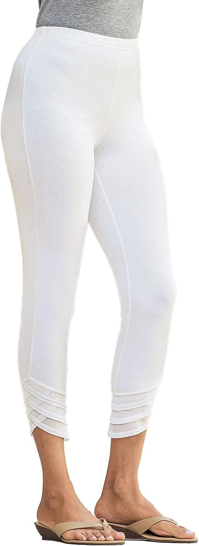 ANTHONY RICHARDS Tulip-Hem Capris – Capri Pants with Elastic Waist for Women