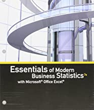 Bundle: Essentials of Modern Business Statistics with Microsoft Office Excel, Loose-leaf Version, 7th + MindTap Business Statistics, 1 term (6 months) Printed Access Card