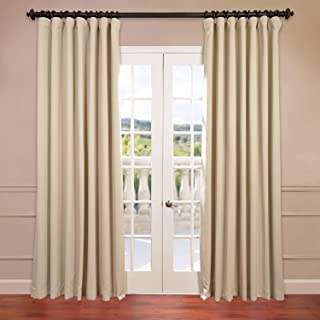 HPD HALF PRICE DRAPES BOCH-120601-120-DW Extra Wide Blackout Room Darkening Curtain, 100 X 120, Eggnog
