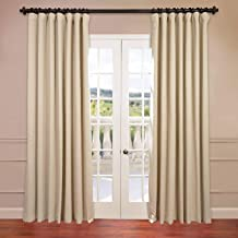 HPD Half Price Drapes BOCH-120601-120-DW Extra Wide Blackout Curtain 100 x 120 Eggnog