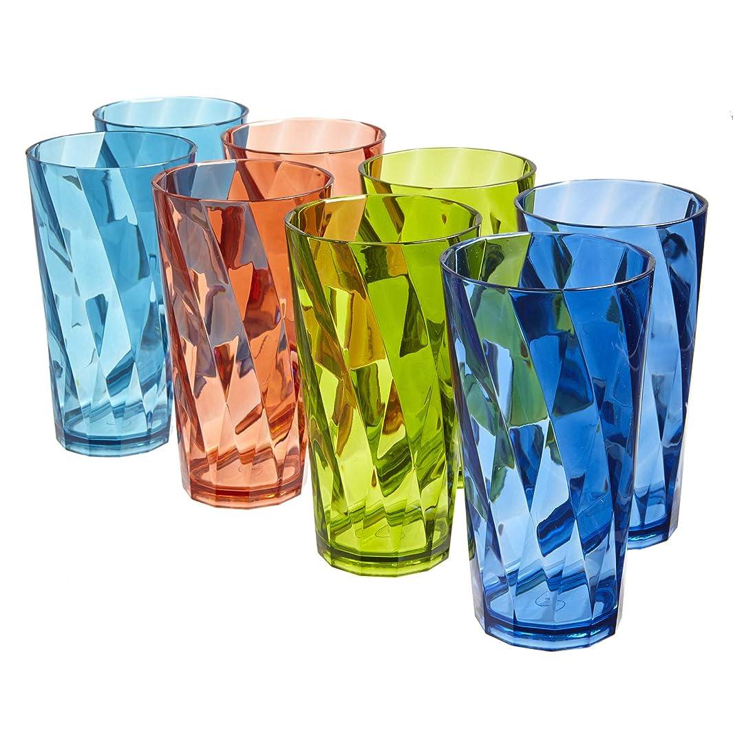 Optix Break-resistant 20-ounce Plastic Tumblers   set of 8 in 4 assorted colors