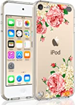 SYONER Clear Phone Case Cover for Apple iPod Touch 2019 / iPod Touch 7 / iPod Touch 6 / iPod Touch 5 [Peony]