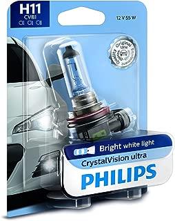 Philips 12362CVB1 1 H11 CrystalVision Ultra Upgrade Bright White Headlight Bulb, 1 Pack