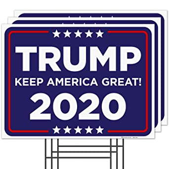 25 TRUMP SIGNS 2020 KEEP AMERICA GREAT Re-elect Campaign Yard Sign 18x24 N stock