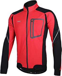 ARSUXEO Winter Thermal Fleece Cycling Jacket Windproof 14D