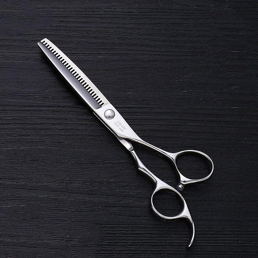 刃平衡せせらぎ6インチV型30歯散髪用はさみ、美容院プロフェッショナル理髪用はさみ モデリングツール (色 : Silver)