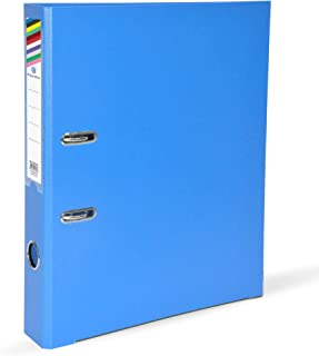 FIS PP Lever Arch Files with Slide-In Plate Blue Color, Size of Spine is 4cm, F/S (210 X 330 mm) - FSBF4PBL