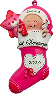 Best Personalized Baby`s Girl First Christmas Ornament 2020 Engraved Review