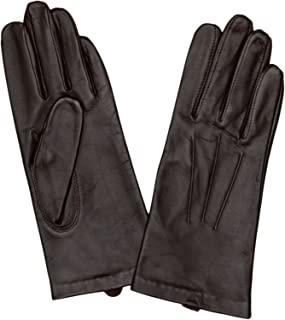 Dents Women's Classic Smooth Grain Leather Gloves With 3-Point Stitch Detail & 100% Silk Lining