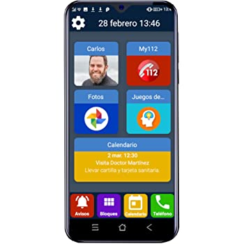 Teléfono móvil para Personas Mayores Familyar con Iconos Grandes y ...