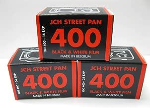 JCH Street Pan ISO 400 Black & White Film 36 Exposure Roll StreetPan 3 Rolls