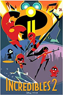 PosterOffice Incredibles 2 Movie Poster Size 24
