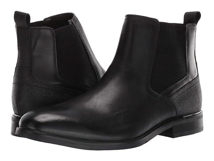 Steve Madden  Affinity Chelsea Boot (Black Leather) Mens Shoes