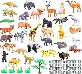 8678fb76cbf2 SmallPocket Juguetes Modelo De Animales Conjunto De Juguetes Animales Juego  De 53 Figuras De Animales Salvajes