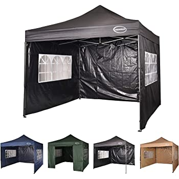 Budget 3m X 3m Foldable Pop Up Gazebo With Sidewalls And Doors