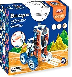 STEM Learning LEGO Assembling Building Toys for Kids, Erector Set for Boys, 152 PCS DIY 12 shapes in 1 STEM Toy, Education...