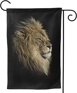 Lion Garden Flag Animal House Flag Vertical Double Sided Yard Outdoor Decor Party 12.5 X 18 Inch