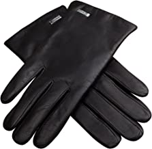 CHULRITA Mens Touch Screen Texting Goatskin Leather Gloves Driving Winter Gloves