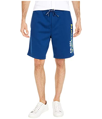 Nautica NS-83 Print Knit Shorts (Blue) Men