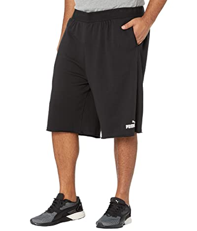 PUMA Big Tall Essential Shorts 12 (Cotton Black) Men