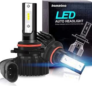 Sampino 9005/H10/HB3 LED Headlight Bulbs All-in-One Conversion Kit 2Packs High Beam/Fog Light Bulb(9140/9145/9040/9045) 8000LM 5500K 12xCSP Chips Cool White