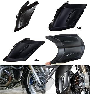 Moto Agrandir Support de B/équille Lat/érale pour B-M-W R1200GS LC 2013-2018 R1250GS 1G13 K50 2018 2019 R1250GS Adventure 2018 2019 R1200GS Rallye 2016-2019-Gris+Noir