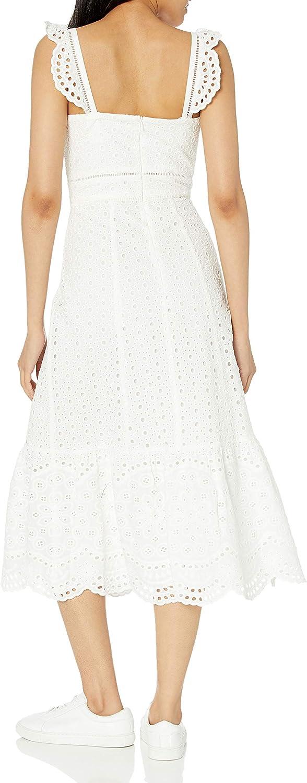Parker Women's Fitted Eyelit Midi, Genevieve Dress
