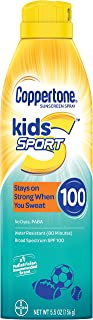 Coppertone SPORT KIDS Sunscreen Continuous Spray SPF 100 (5.5-Ounce)