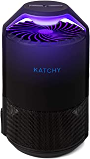 KATCHY Indoor Insect Trap: Bug, Fruit Fly, Gnat, Mosquito Killer - Automated Sensor Switch, UV Light, Fan, Sticky Glue Boards Trap Even The Tiniest Flying Bugs - No Zapper - Child Safe, Non-Toxic