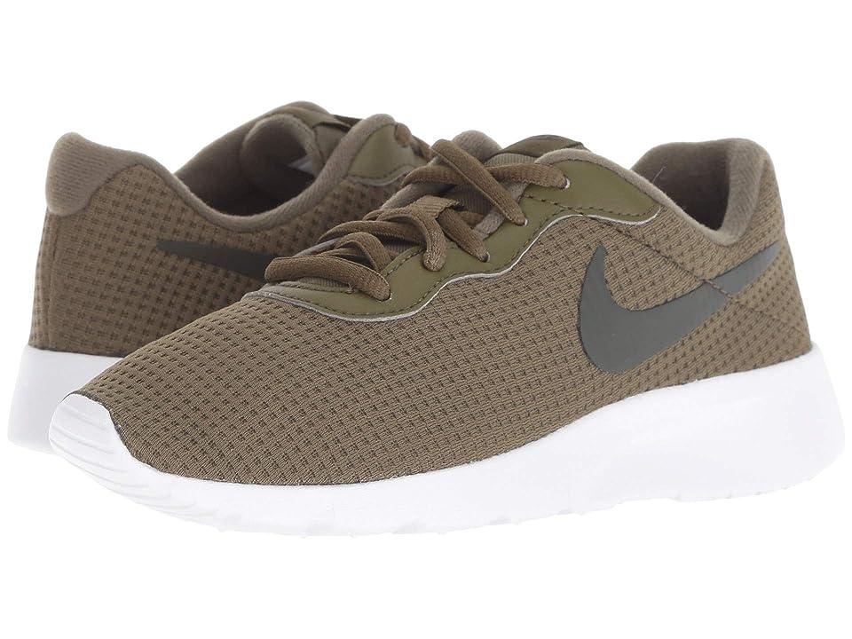 Nike Kids Tanjun (Little Kid) (Olive Canvas/Sequoia/White) Boys Shoes
