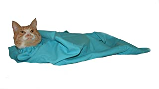 Cat-in-the-bag Large Light Blue Cozy Comfort Carrier - Cat Carrier and Grooming Bag for Vet Visits, Medication Administrat...