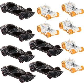 Hot Wheels (Set of 12 Star Wars Carships Toy Set 6 Darth Vader & 6 BB-8 Character Cars Bulk