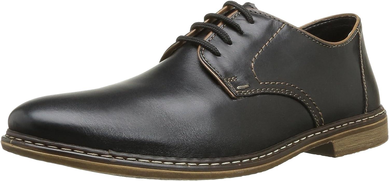Rieker Men Lace-Up shoes black, (black zimt black) 13422-01